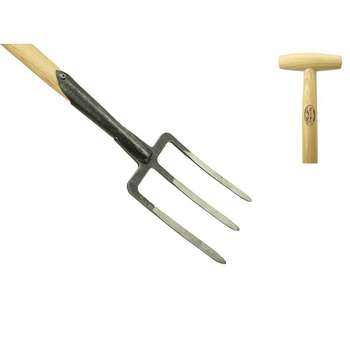 Spitvork 3 tands essen steel 900mm