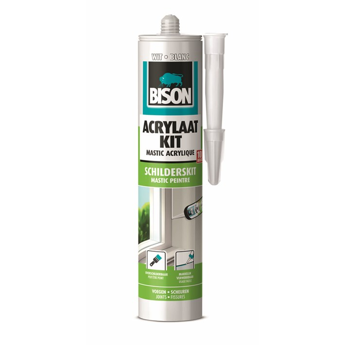 1491145 Bison Acrylic Sealant Universal White Cartridge 300 ml NL/FR