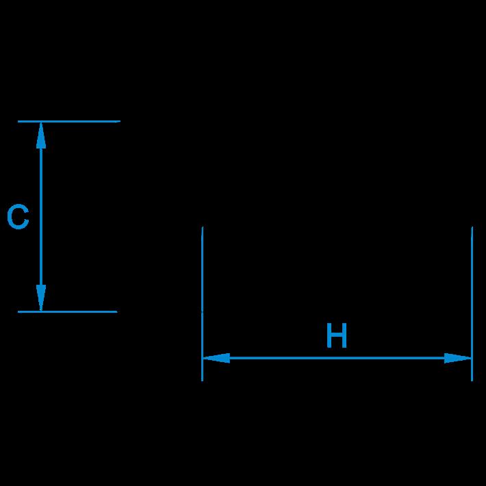 Ronde koppelmoeren tekening | Round coupler nuts drawing | Runde Distanzmuffen Zeichnung | Écrous rondes de jonction plan