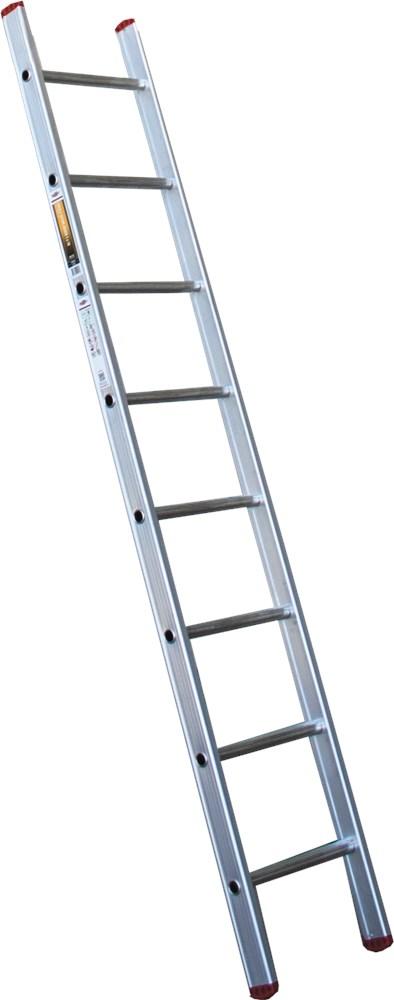 Ladder enkel, aluminium