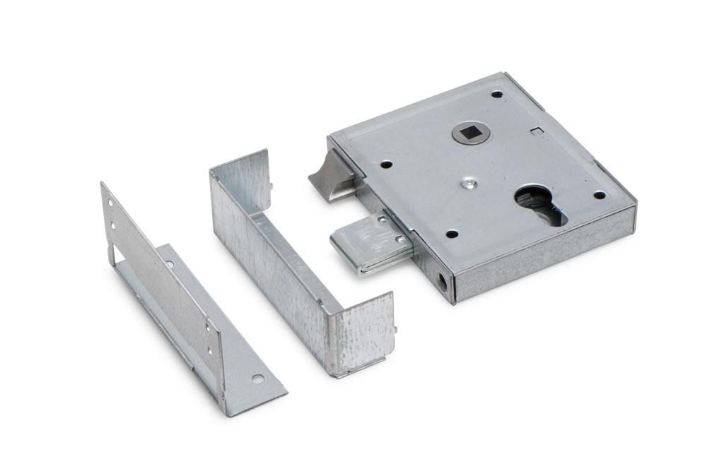 Opleg poortslot, staal verzinkt