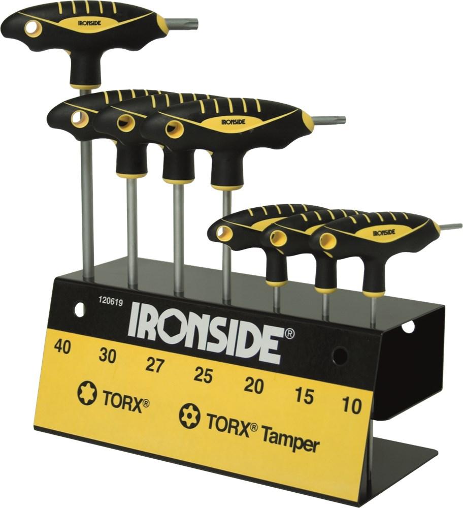 IRONSIDE STIFTSLEUTELSET 7 DELIG T-GREEP TOR