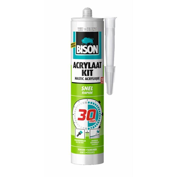 1491142 Bison Acrylaatkit 30 minuten White Cartridge 300 ml NL/FR