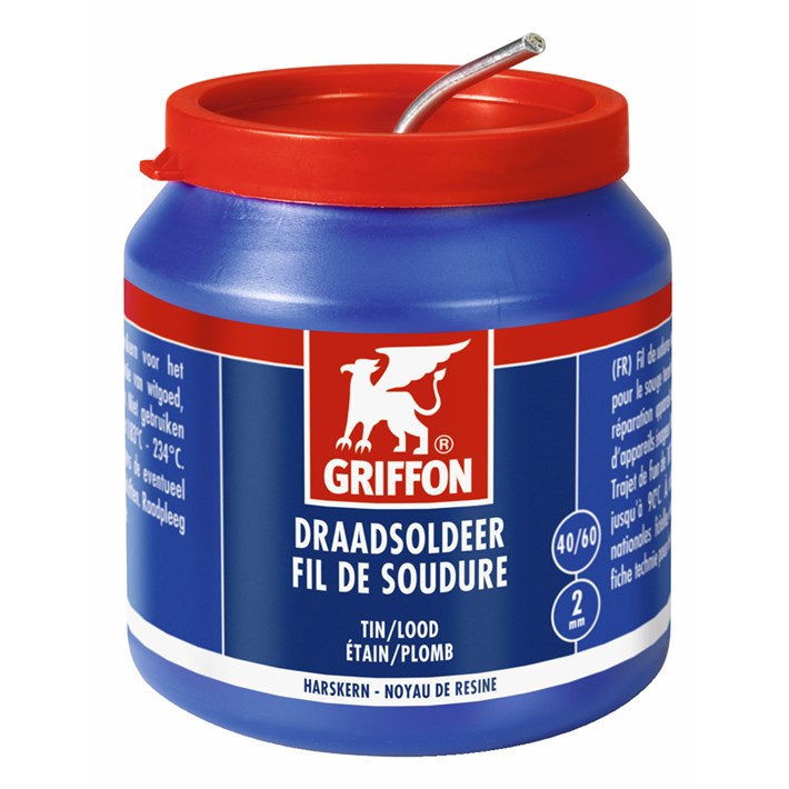 1236125 Griffon Solder Wire Tin/Lead 40/60 Resin Core Ø 2.0 mm Container 500 g NL/FR
