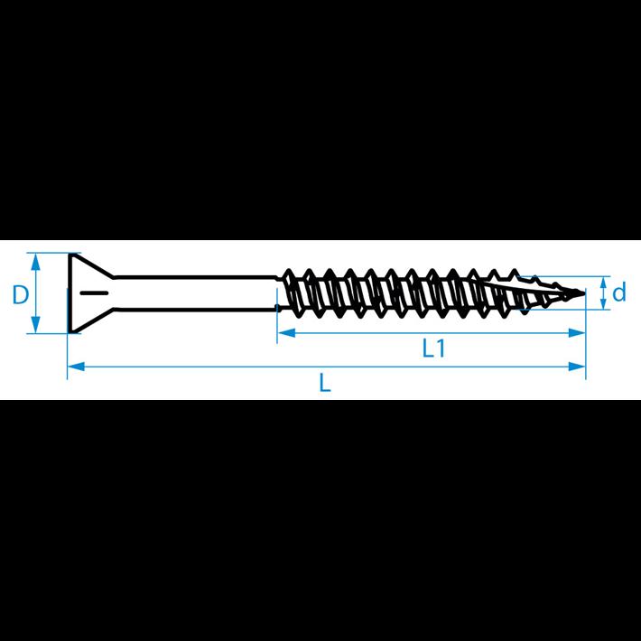 Spaanplaatschroeven smalle kop | Chipboard screws narrow head | Spanplattenschrauben Kleinkopf | Vis à bois tête petite