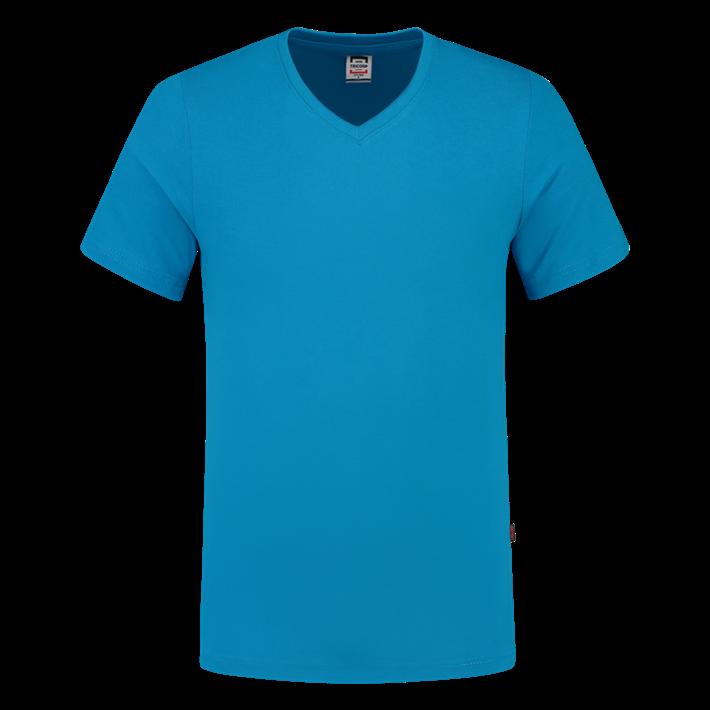 Tricorp T-shirt Vhals SlimFit Turquoise