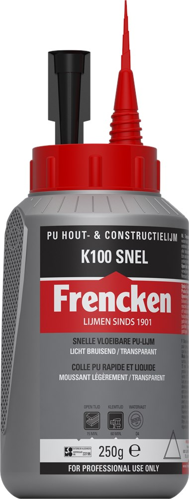 FRENCKEN KONSTRUKTIELIJM SNEL TRANSP. 250ML