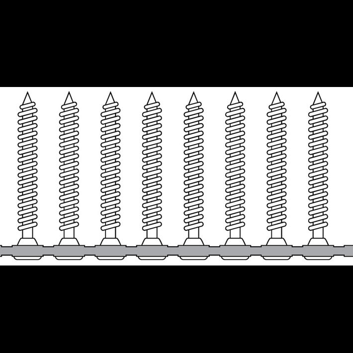 Bandschroeven tekening | Collated screws drawing | Bandschrauben Zeichnung | Vis sur bande plan