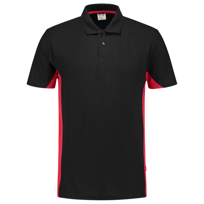 Tricorp Poloshirt Bicolor Black Red