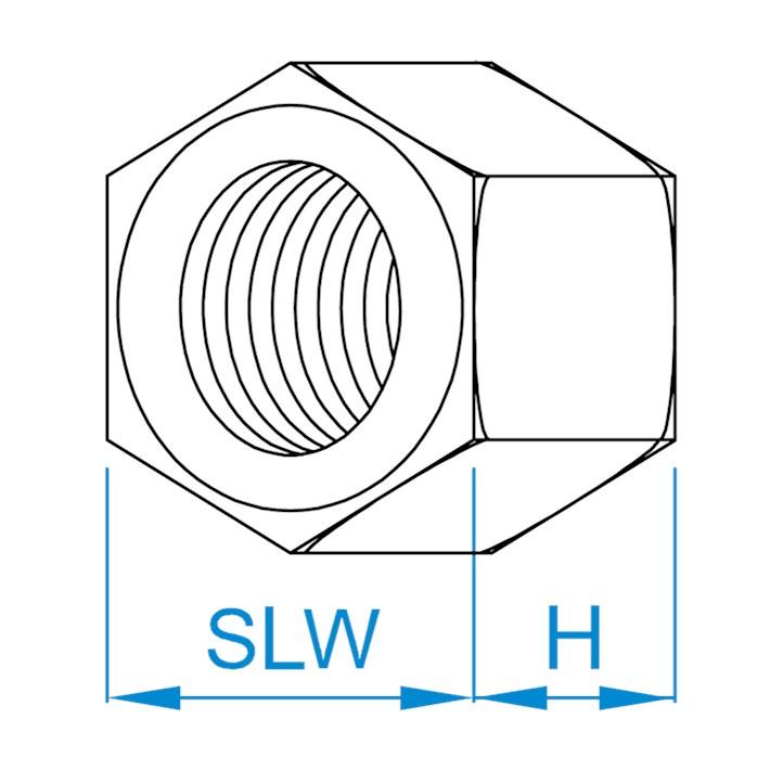 Zeskante moeren DIN934 | Hexagon nuts DIN934 | Sechskantmuttern DIN934 | Écrous hexagonaux DIN934