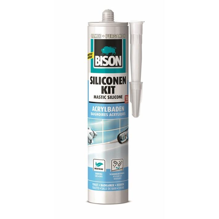 1491416 Bison Silicone Sealant Acrylic baths Cameo Cartridge 300 ml NL/FR