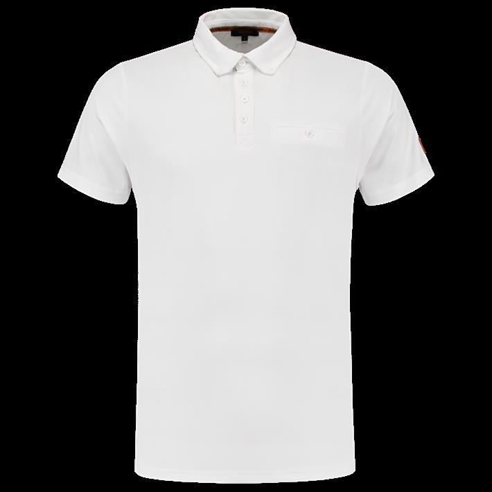 Tricorp Poloshirt Premium Button Down White