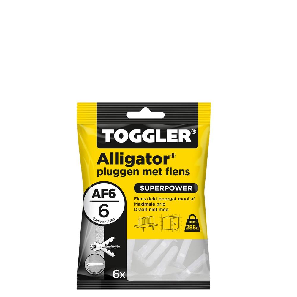 Toggler Alligator plug met flens AF6 zak met 6 pluggen.tif