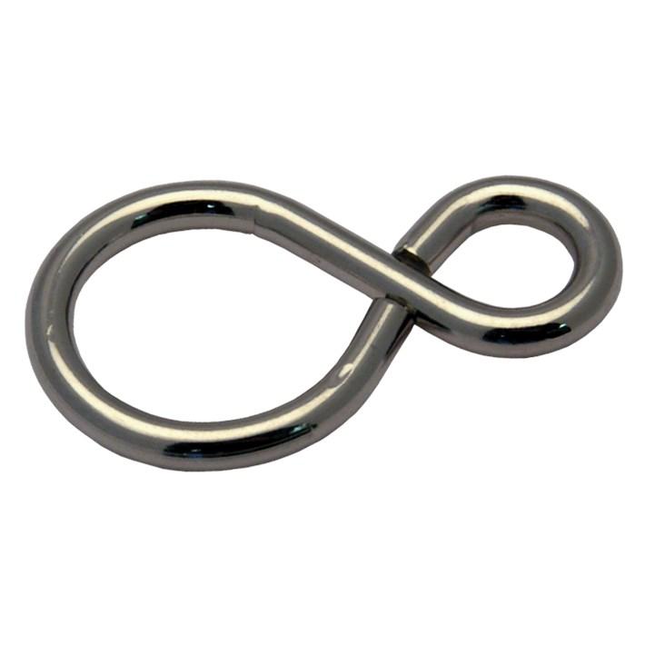 Gesloten S-haken ijzer vernikkeld | Closed S-hooks iron nickel plated | Geschlossene S-haken Eisen vernickelt | Crochets 'S' fermés acier nickelé