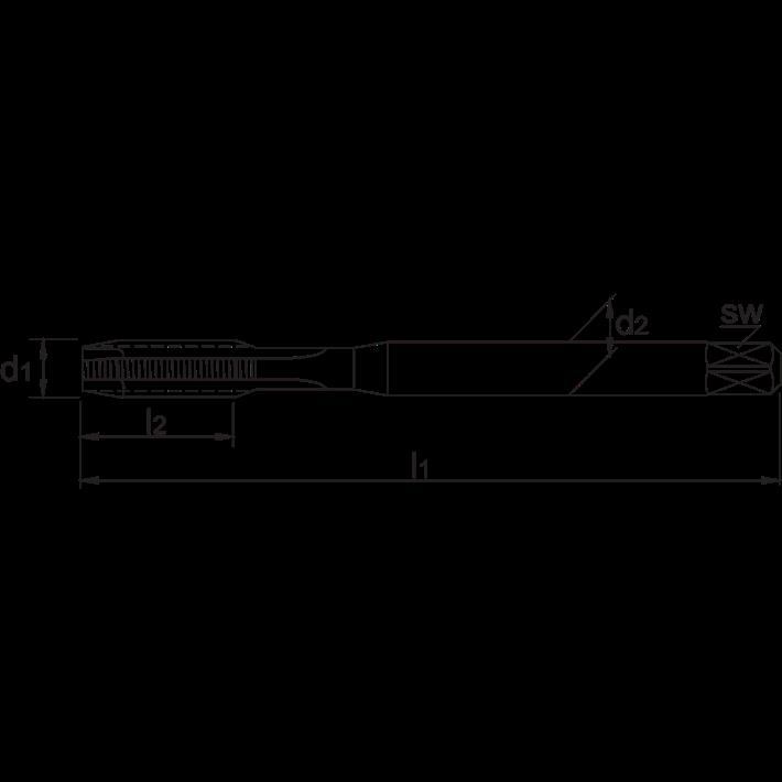 International Tools ECO HSS Machinetap DIN 352 Metrisch kort