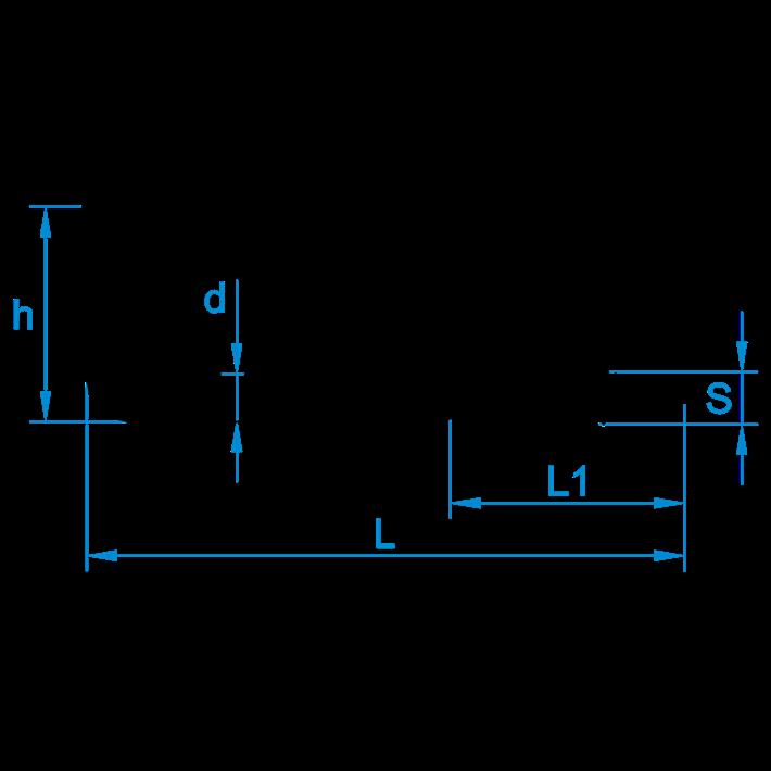 Schroefduimen tekening | Square hooks drawing | Gerade Schraubhaken Zeichnung | Gonds à vis plan
