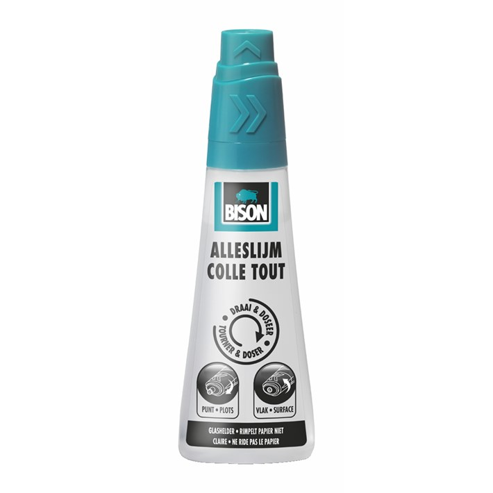 6306621 BS Alleslijm Draai & Doseer Flacon 90 ml NL/FR