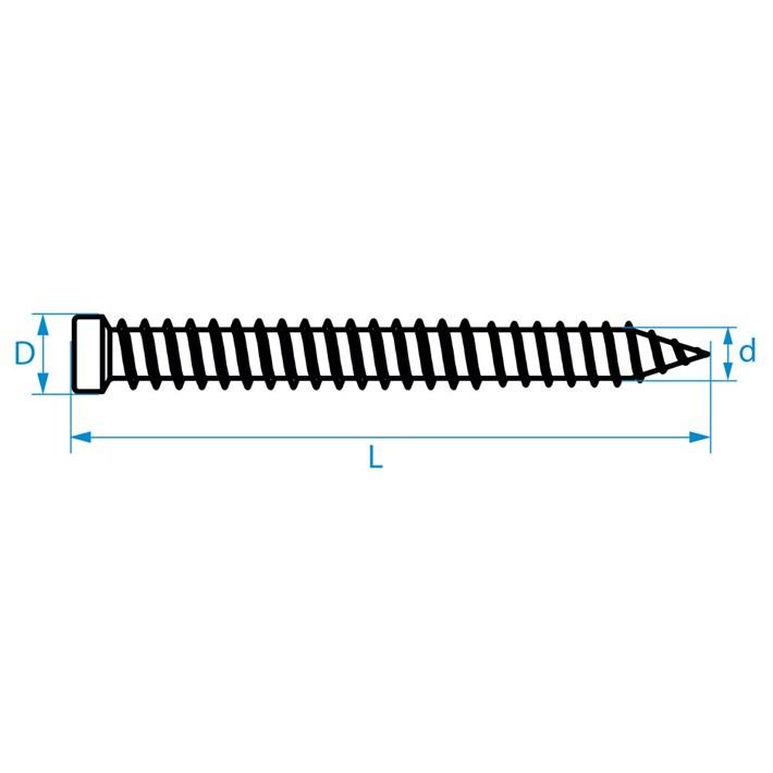 Kozijnschroeven cilinderkop | Frame joining screws cylinder head | Fensterrahmenschrauben Zylinderkopf | Vis pour fixation de chassis tête cylindrique