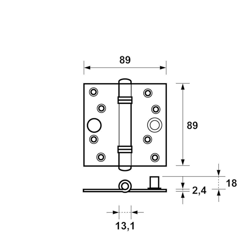 Venelite veiligheidsscharnier product maattekening 1139-25.png