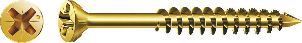 SPAX GLASLATSCHROEF GEEL PK 3.5X40