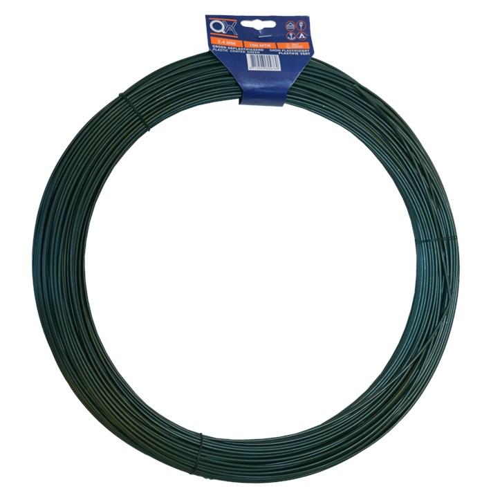 Draad geplastificeerd ijzer verzinkt | Wire plastified iron zincplated | Draht plastifiziert Eisen verzinkt | Fil plastifié acier zingué