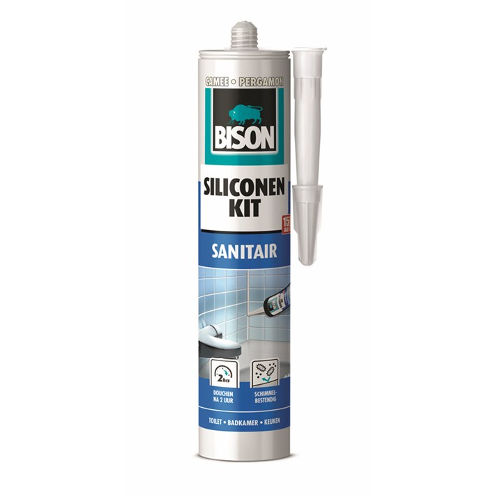1491323 Bison Silicone Sealant Cameo Cartridge 300 ml NL