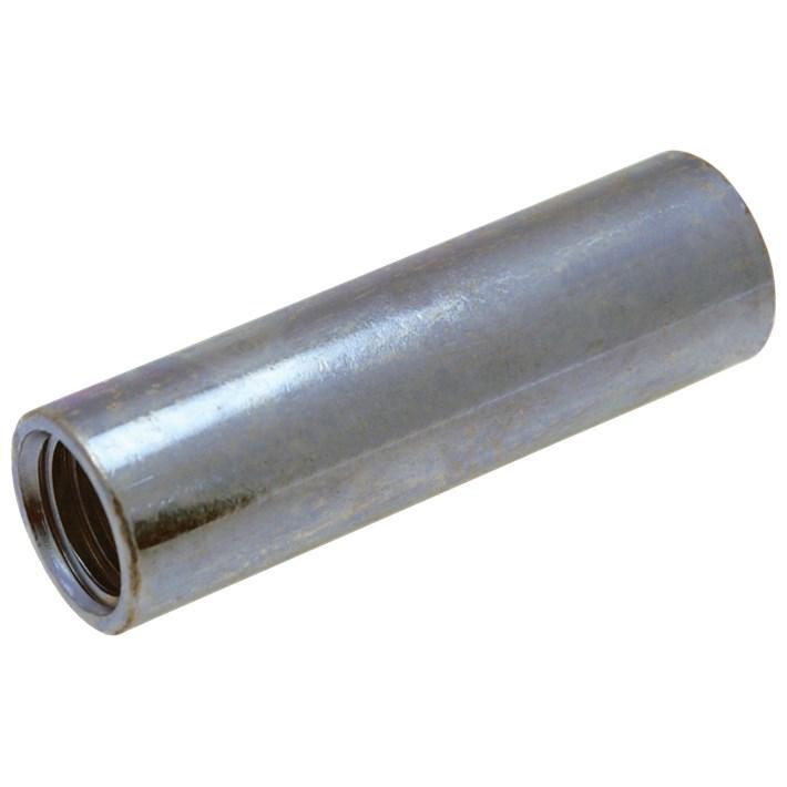 Ronde koppelmoeren ijzer gegalvaniseerd | Round coupler nuts iron galvanized | Distanzmuffen Eisen glanzverzinkt | Écrous rondes de jonction acier zingué