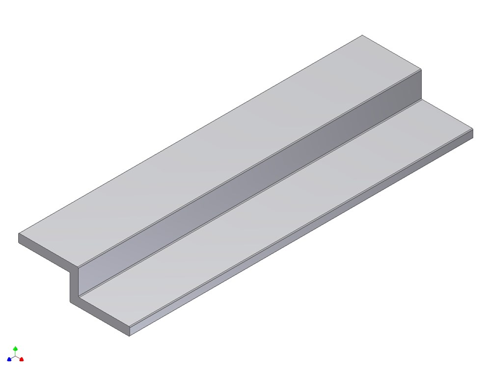 Z-profiel, aluminium