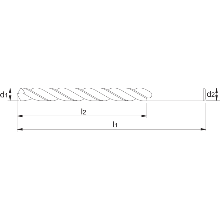 International Tools ECO HSS Spiraalboor DIN 338 gewalst