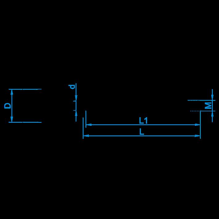 Schroefogen metrisch met borst tekening | Shouldered screw eyes metric drawing | Ringschrauben mit Eisengewinde und Beffe Zeichnung | Pitons avec embase et filetage métrique plan