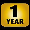 1 jaar garantie