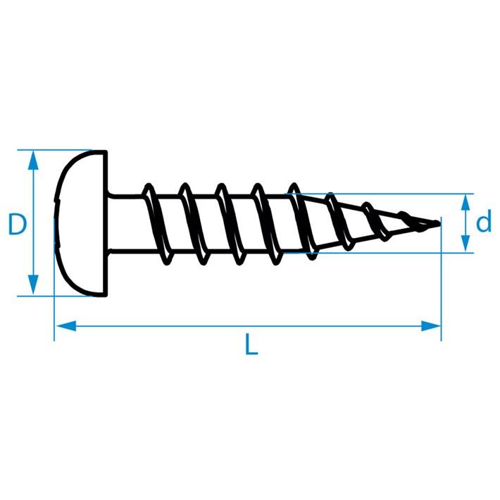 Zelftappende schroeven panhead | Selftapping screws panhead | Blechschrauben Zylinderkopf | Vis autoradeuses tête cylindrique