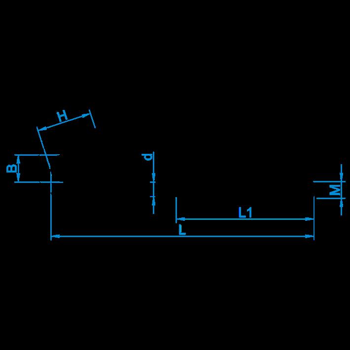 J-haken tekening | Hookbolts (iron galvanized) drawing | J-haken Zeichnung | Crochets de toiture (acier zingué) plan