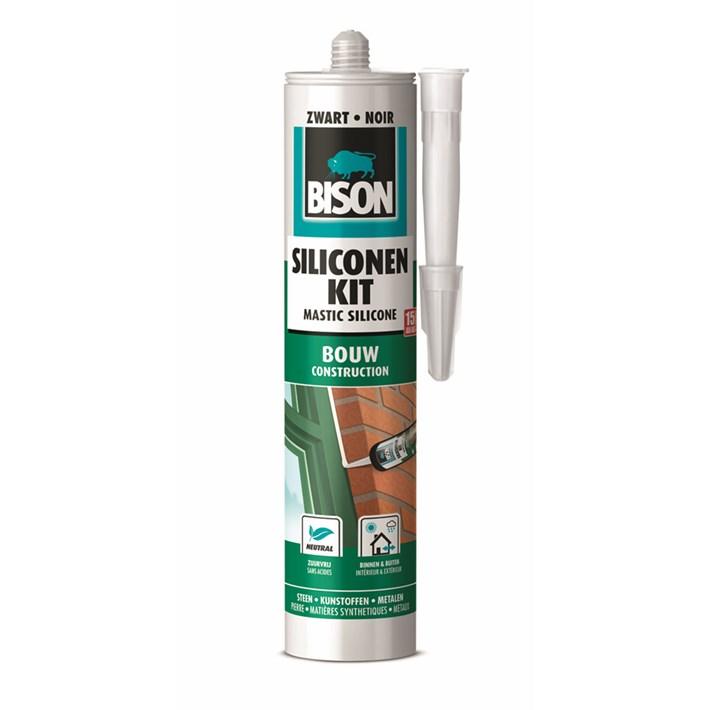 1491366 Bison Silicone Sealant Construction Black Cartridge 300 ml NL/FR