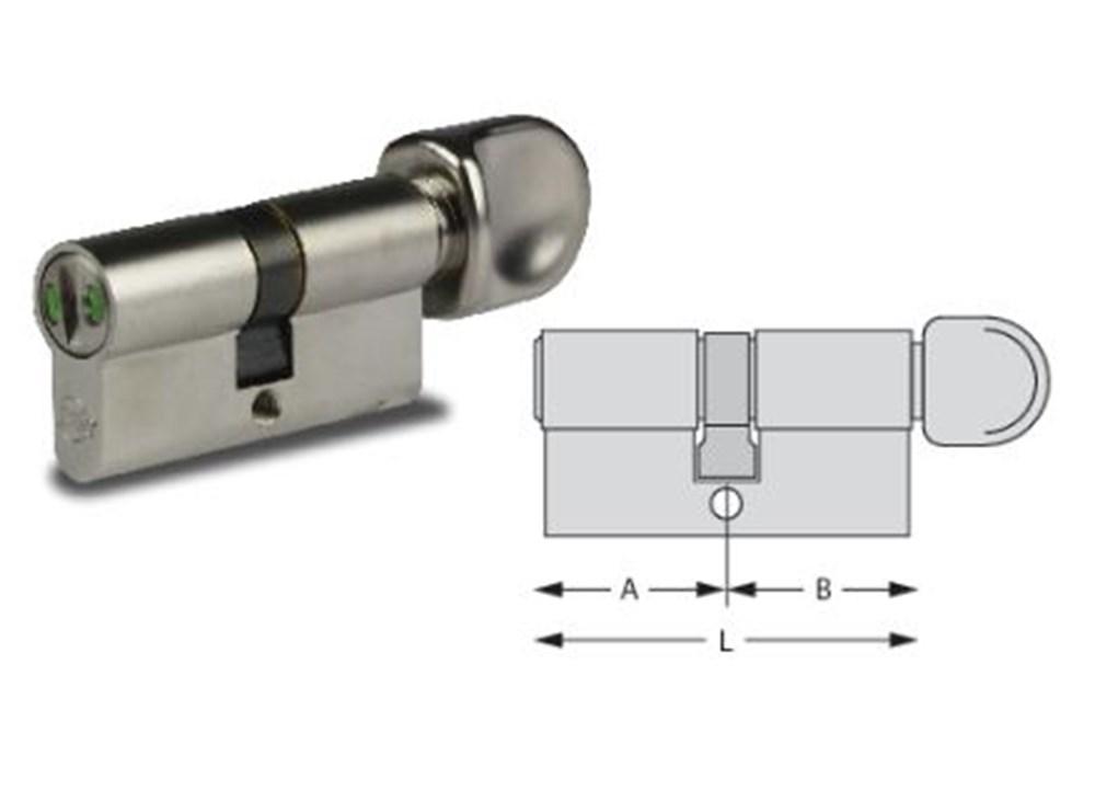 WC-knopcilinder