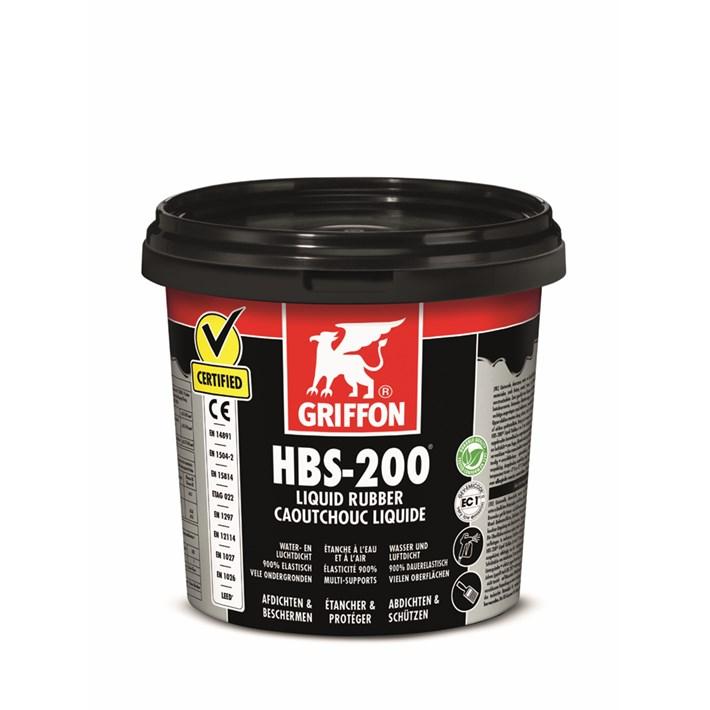 GRIFFON HBS-200 LIQUID RUBBER POT 1L*6 L221