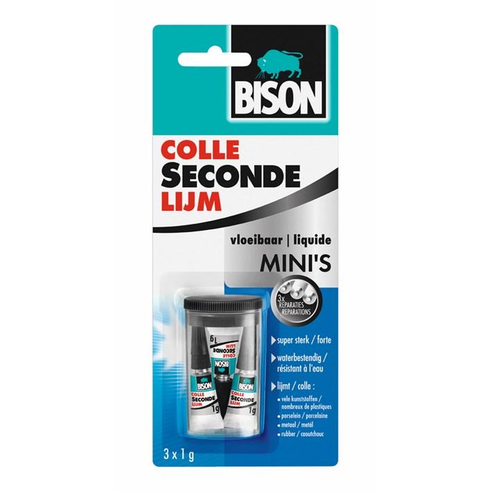 6311922 BS Secondelijm Minis in a box 3*1 gr NL/FR