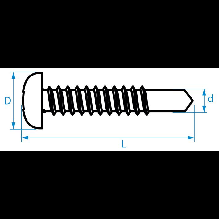 Zelfborende schroeven panhead binnenvierkant | Selfdrilling screws panhead inner square | Selbstbohrende Schrauben Zylinderkopf Innenviereck | Vis autoforantes carré intérieur tête cylindrique