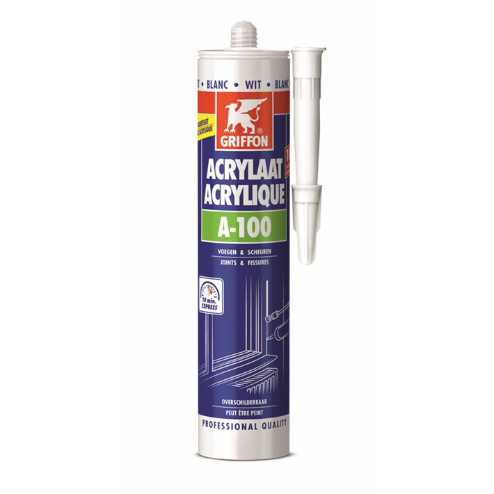 6301883 Griffon Acrylic sealant A-100 White Cartridge 300 ml NL/FR