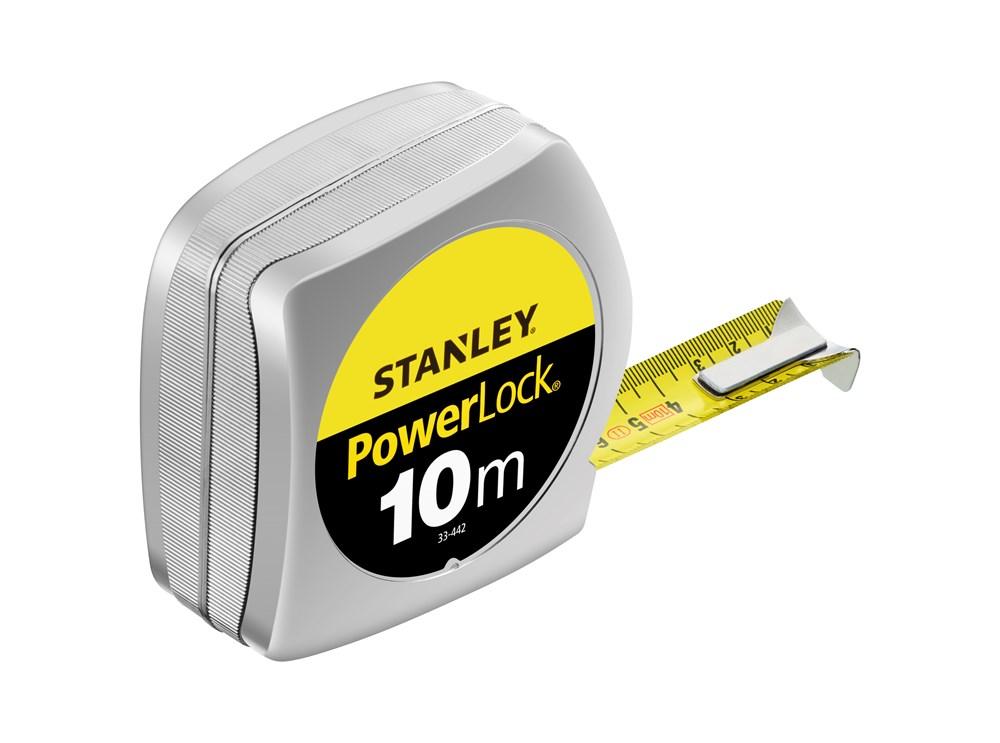 STANLEY ROLBANDMAAT MET STOP POWERLOCK 10 MTR