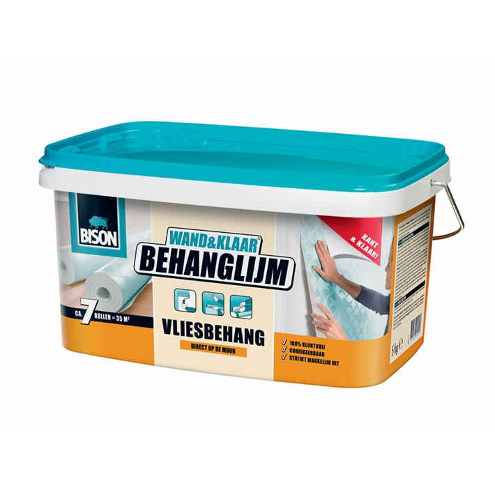 6302993 BS Wand&Klaar® Behanglijm Vliesbehang Bucket 5 kg NL