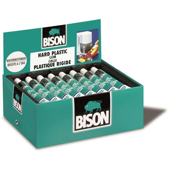 6305952 BS Hard Plastic Lijm Transparent Tube 25ml Display Box NL/FR