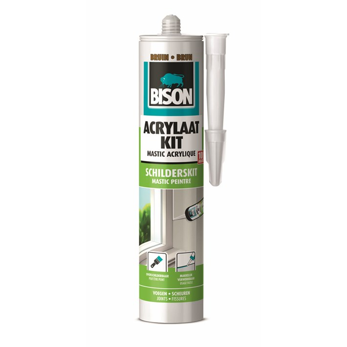 1491147 Bison Acrylic Sealant Universal Brown Cartridge 300 ml NL/FR