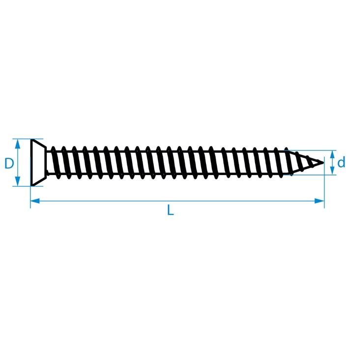 Kozijnschroeven platkop | Frame joining screws countersunk head | Fensterrahmenschrauben Senkkopf | Vis pour fixation de chassis tête fraisée