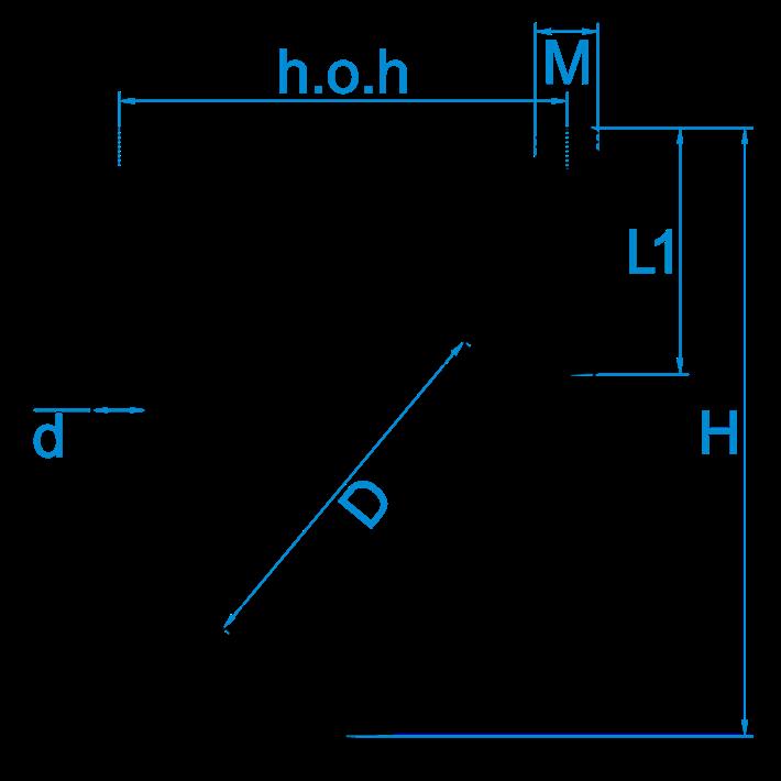 U-beugels tekening | U-bolts drawing | U-bügel/Rundstahlbügel Zeichnung | Étriers en U plan
