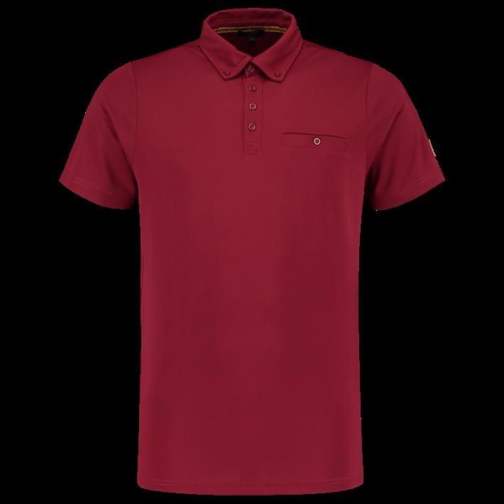 Tricorp Poloshirt Premium Button Down Bordeaux