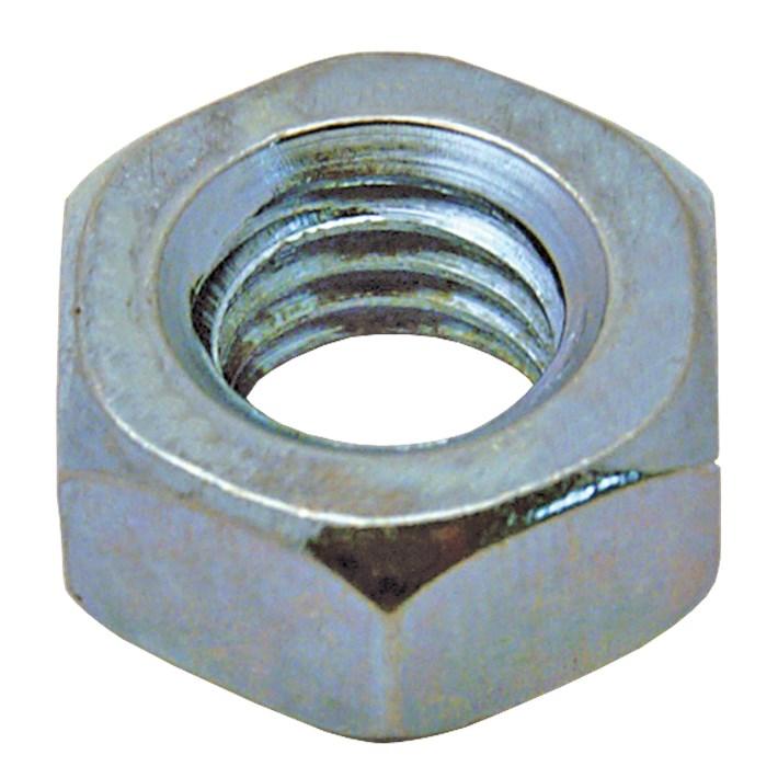 Zeskante moeren DIN934 ijzer gegalvaniseerd | Hexagon nuts DIN934 iron galvanized | Sechskantmuttern DIN934 Eisen glanzverzinkt | Écrous hexagonaux DIN934 acier zingué