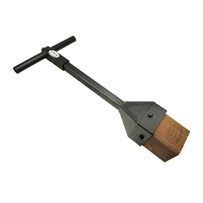 Stamper hout met schokabsorberende handgreep