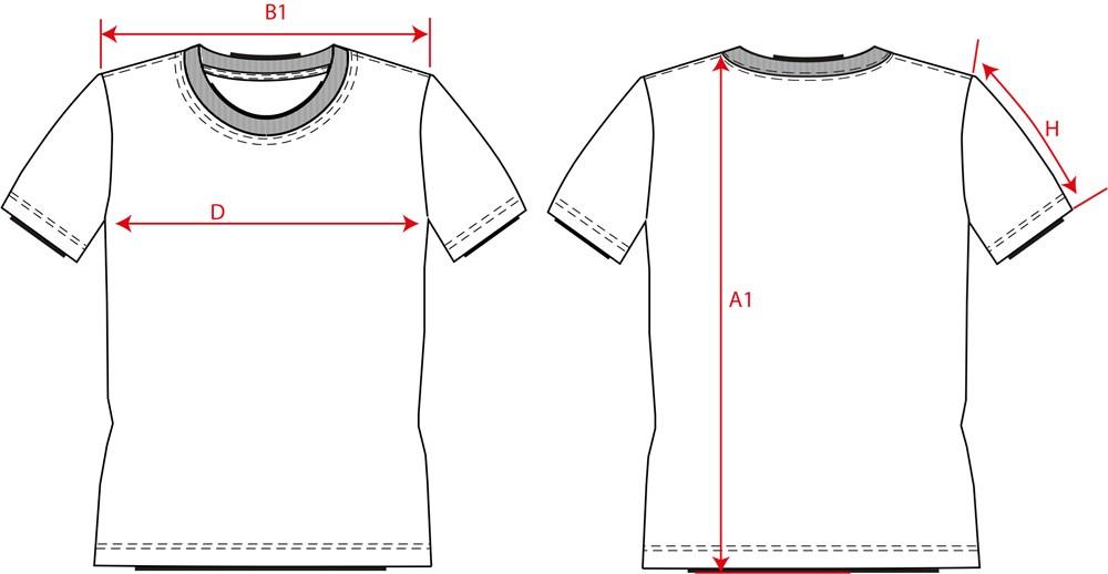 T-Shirt V Hals Slim Fit 101005 White 4XL