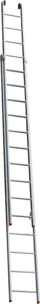 Opsteekladder 2-delig, aluminium
